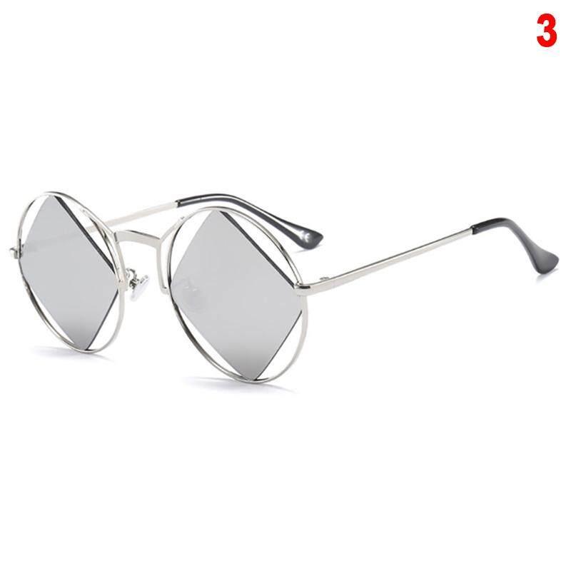 Orange Sunshine Retro Round Sunglasses Women Men Steampunk Vintage Rhombus Sunglasses Girl UV400