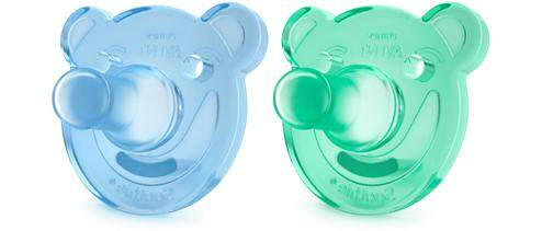 Phillips Avent Silicone Soothie Shapes Pacifier (Twin Pack) for 3m+