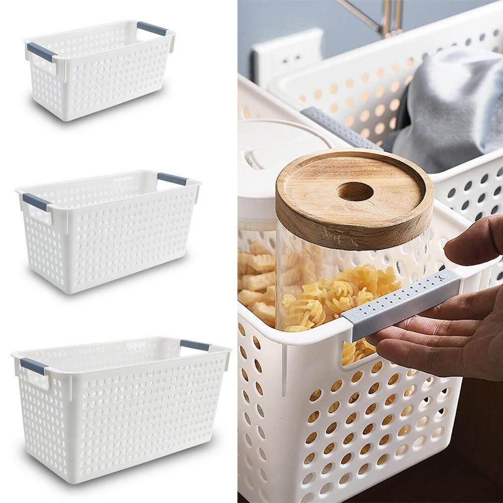 leegoal Desktop Storage Basket Home Living Room Storage Basket Office Finishing Storage Basket Imitation Rattan Plastic Storage Box