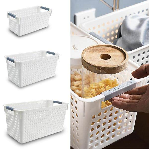 leegoal Desktop Storage Basket Home Living Room Storage Basket Office Finishing Storage Basket Imitation Rattan Plastic Storage Box