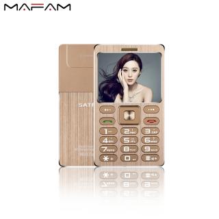 Hỗ trợ tiếng việt MAFAM 2021 Điện Thoại Bluetooth GSM A10 1.77 Inch 480MAh, Thân Máy Bằng Kim Loại, Siêu Mỏng, Thẻ Nhớ Mini-Quốc Tế thumbnail