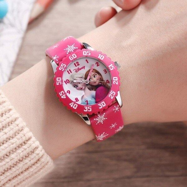 Princess Frozen Sofia Girls Buckle PU Band Japan Quartz Red Pink Purple Watches Cuties 3ATM Waterproof Watch For Children Malaysia