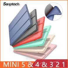 Ốp Lưng Santotoch Cho iPad Mini 4 3 2 1 Chất Liệu Da PU Ốp Lưng Mềm Silicon Giá Đỡ Gấp Làm Ba Ngủ Thông Minh Cho iPad Mini 5 2019 Ốp Bảo Vệ