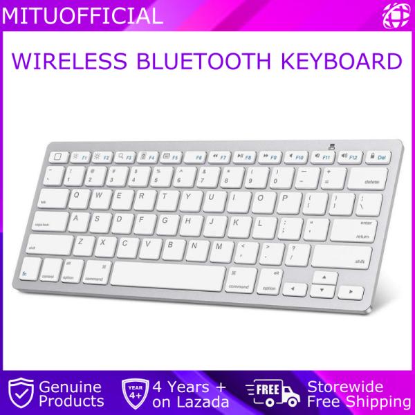 Wireless Bluetooth Keyboard For MAC / Windows / Android / IOS - White Malaysia