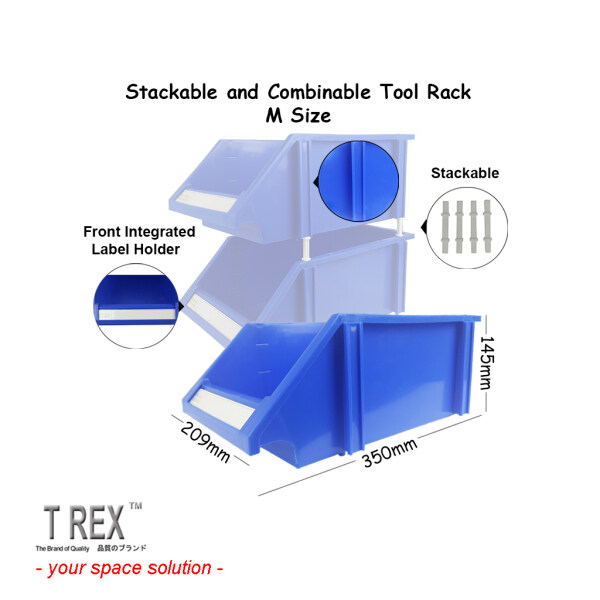 T Rex M Size Stackable Tool Rack / Tool Storage Box / Multipurpose Tool Box / Hardware Organizer / Combinable Tool Rack