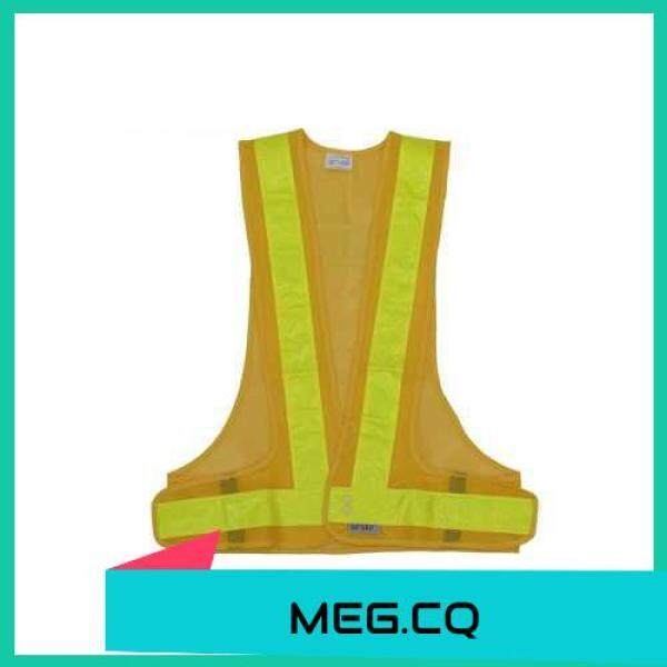 [ MEG.CQ ] SFVest High Visibility Reflective Vest Reflective Safety Strap Vests Workwear Security Working Clothes Day Night Cycling Running Traffic Warning Safety Waistcoat (Yellow)