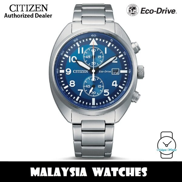 (100% Original) Citizen CA7040-85L Eco Drive Chronograph Blue Dial Stainless Steel Case & Strap Mens Watch Malaysia