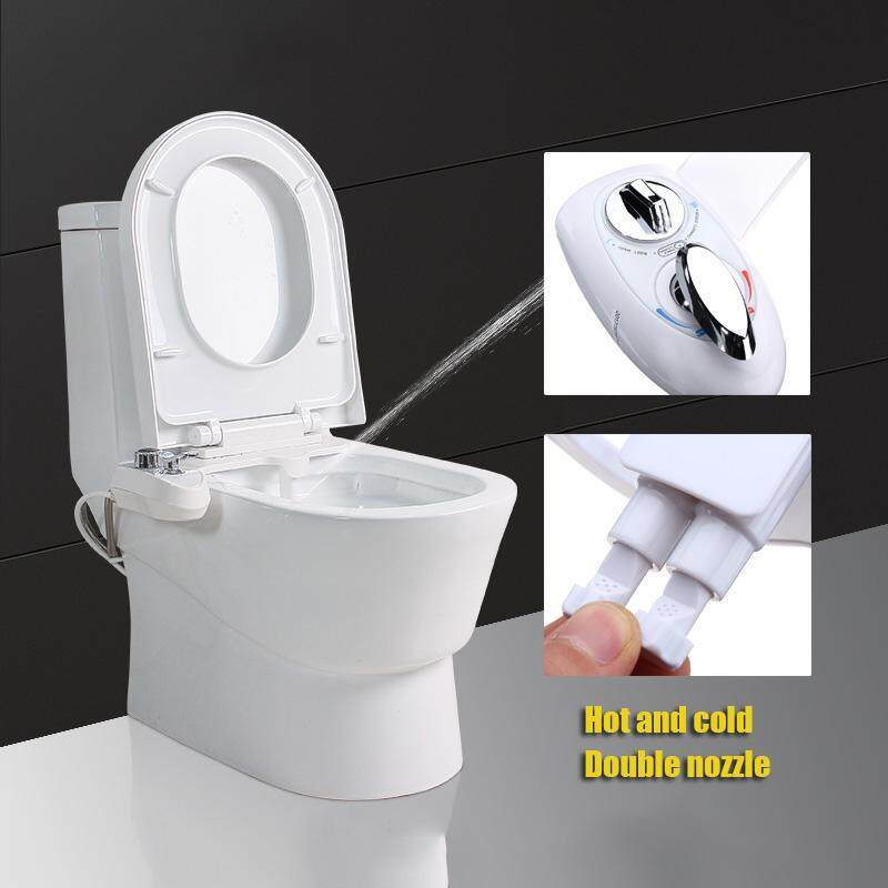 【New Arrival ON SALE】Hot/Cold Bidet Toilet Seat Water Non-Electric Fresh Attachment Spray