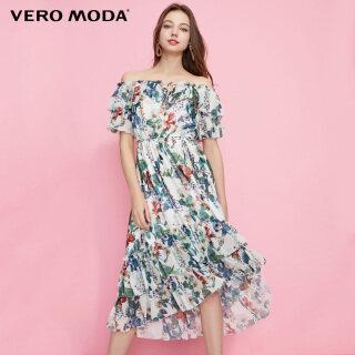 Vero Moda Đầm Nữ In Họa Tiết Lệch Vai Xếp Nếp 31937B513 thumbnail
