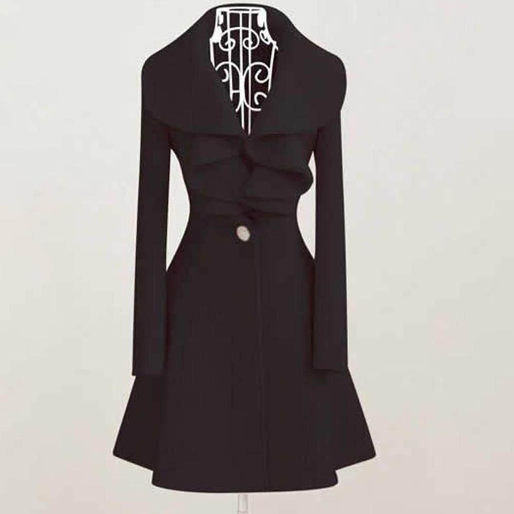 Hiver Automne Femme Fin Chaud Long Laine Veste Extérieur Fashion Manteau  Parka 42942a889aa