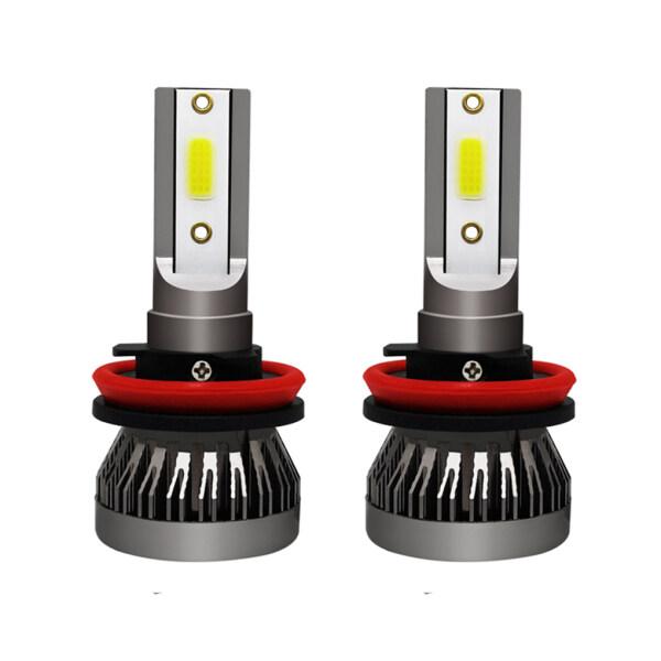 1 Cặp Bóng Đèn Pha LED Chùm Tia An Toàn Siêu Sáng H11 72W 6000K Chống Nước, Bóng Đèn Pha Ô Tô Lái Xe Ánh Sáng