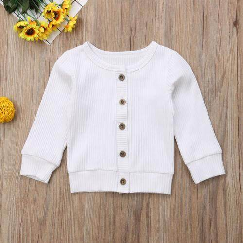 cc3bbc244 2019 Newest Winter Autumn Toddler Kids Baby Girls Clothes Casual Button  Knitted Sweater Cardigan Tops T