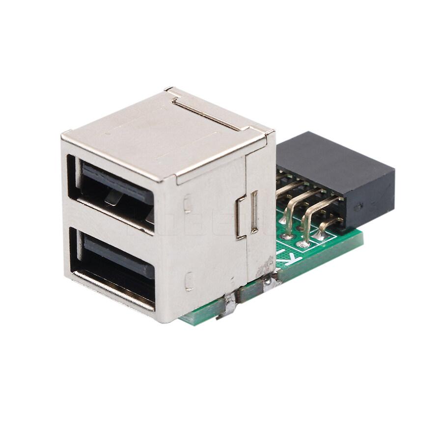 Giá Bên Trong Máy Tính 2 Cổng 2.0 9Pin 1 Ra 2 Cổng Một Adapter Chuyển Đổi Bo Mạch Chủ PCB Board Bộ Chuyển