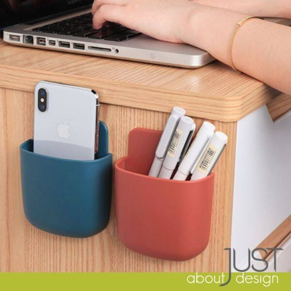Remote Control Holder Self Adhesive Wall Mounted Storage Box Small For Phone Air Con Plastic Organizer