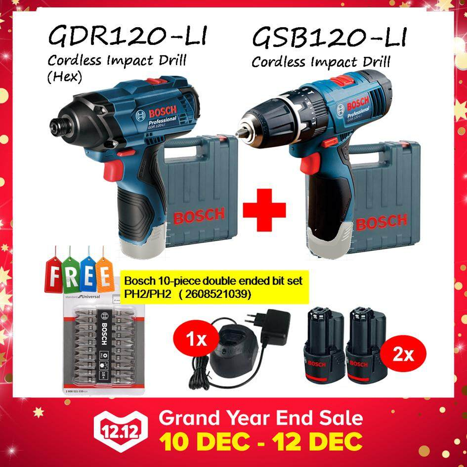 Bosch Home Drills Drivers Price In Malaysia Best Mesin Bor Rotary Hammer Gbh 2 18 Re Combo Kit Gdr120 Li Gsb120 Cordless Impact Drill Driver