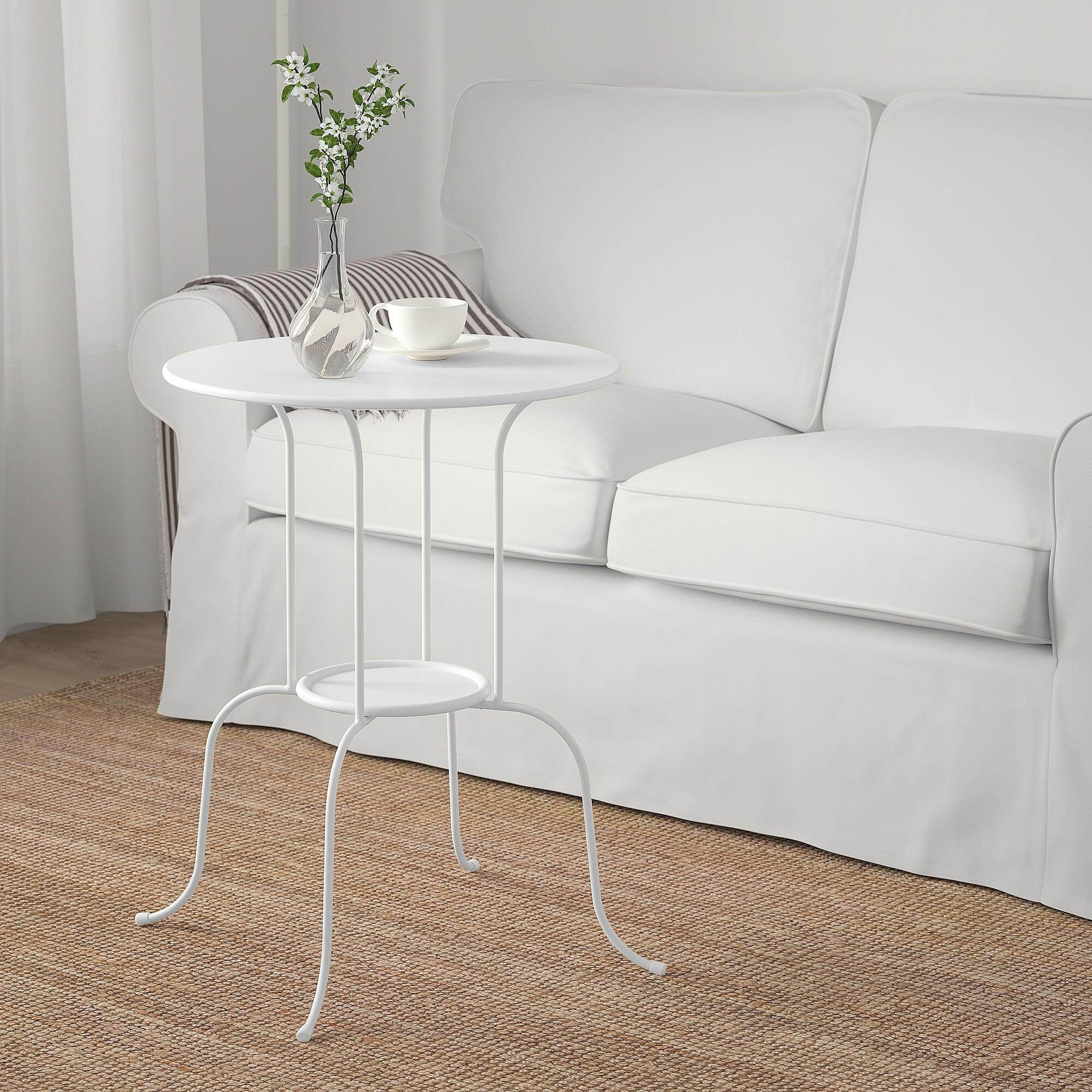Mk Lindved High Quality Steel Side Table Coffee Table (white) By Mk Motorsport.
