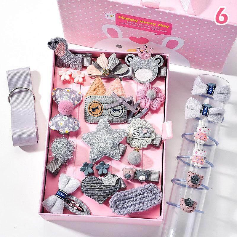 Giá bán 24 Cái/bộ Cô Gái Nhỏ Phụ Kiện Tóc Hoạt Hình Kẹp Tóc Handmade Tóc Nhẫn