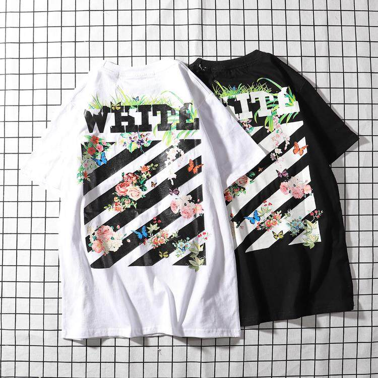 OFF WHITE Men Women Short-sleeved T-shirt Casual Tops Clothing 08e122acc2b