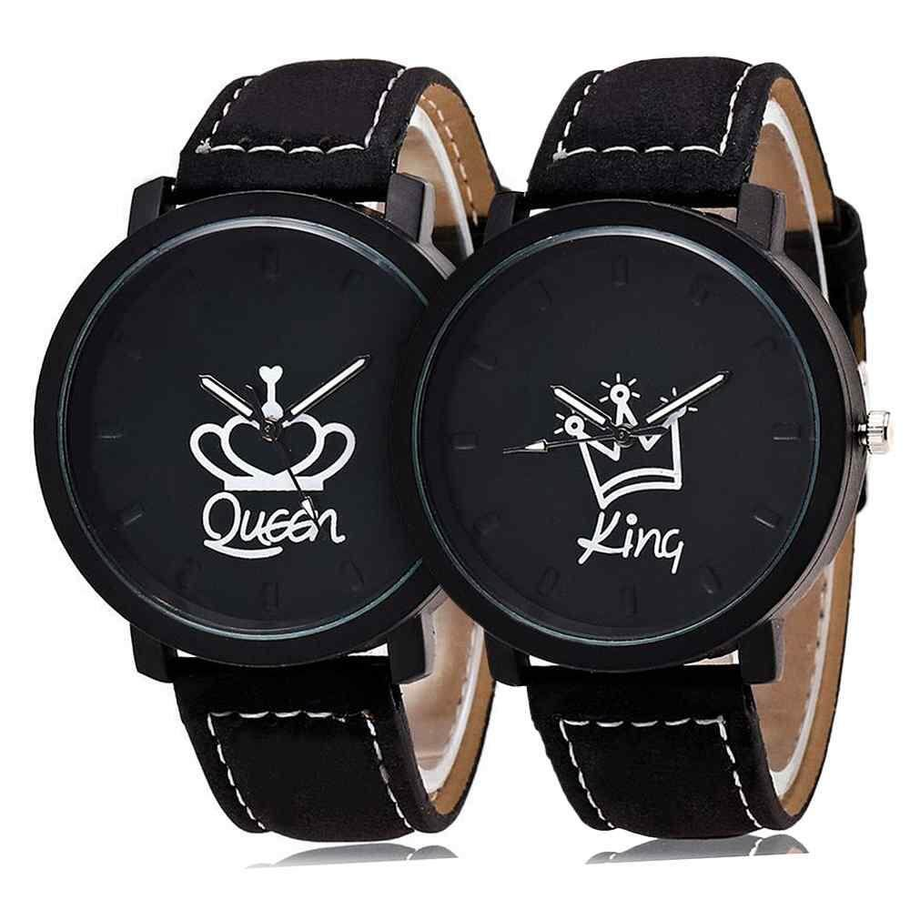 【Ready Stock】Lagobuy 2x (King And Queen) Fashion Men Women Couple Watches Wristband WristWatch Quartz Watch Malaysia