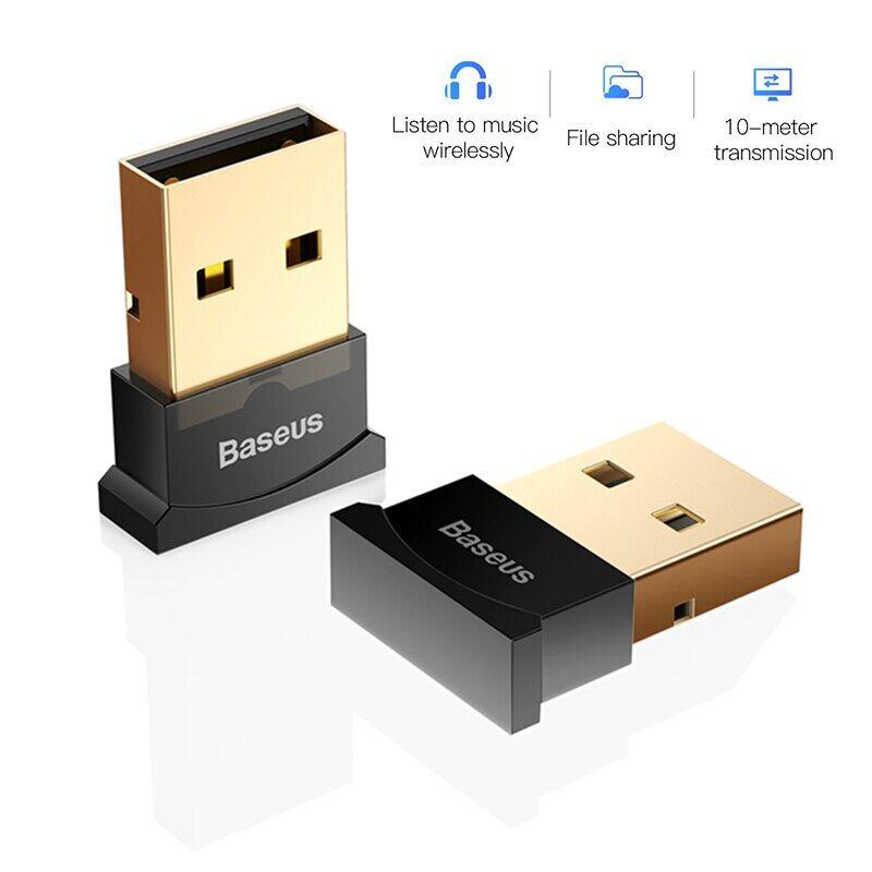 Baseus Bộ Chuyển Đổi USB Bluetooth Dongle, Cho Máy Tính PC Chuột PS4 Aux Âm Thanh Bluetooth 4.0 4.2 Bộ Thu Phát Nhạc Loa