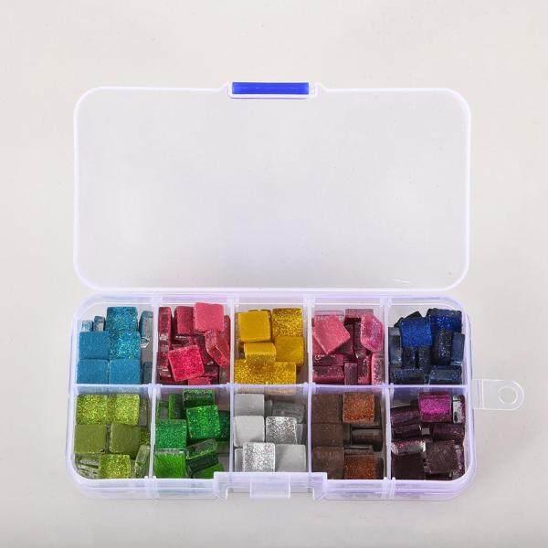 PER INS 10 color square classic fashion art glass mosaic tile glitter monochrome DIY gravel