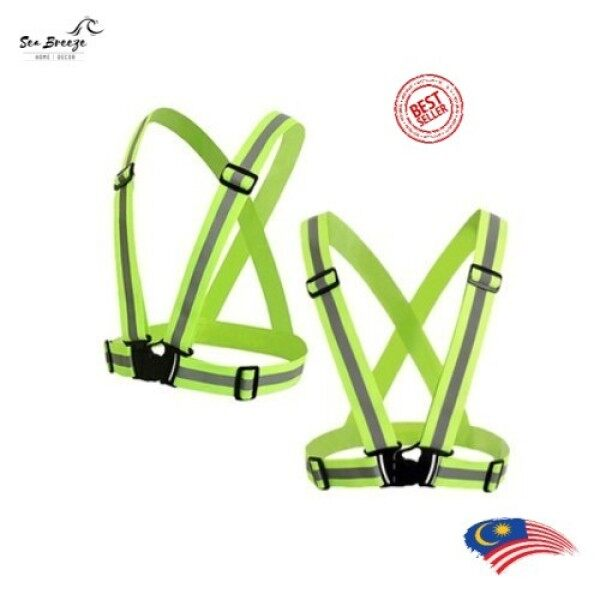 [READY STOCK] Adjustable Safety Cycling Running Visibility Reflective Vest