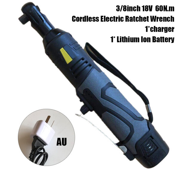 Comforhome 18V 60Nm 3/8  Electric Ratchet Wrench Wireless Rechargeable UK US EU AU Plug Right Angle Impact Wrenches