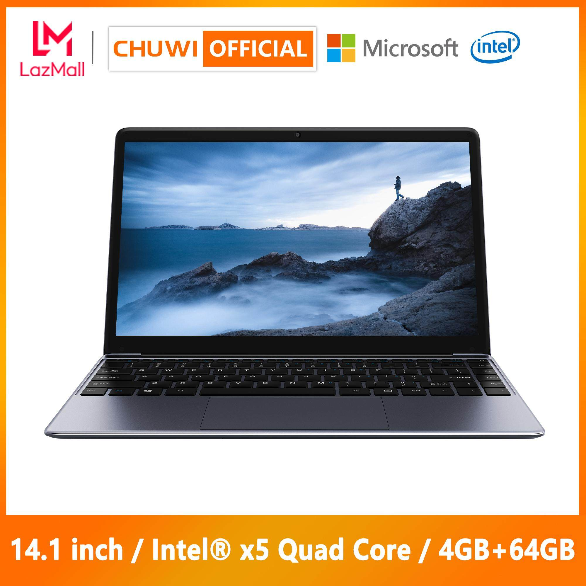 【CHUWI OFFICIAL】HeroBook Laptop / 14 1 Inch 1920*1080 / Intel® x5 CPU /  Genuine Windows 10 / Borderless Keyboard / 4GB+64GB / 1 Year Warranty