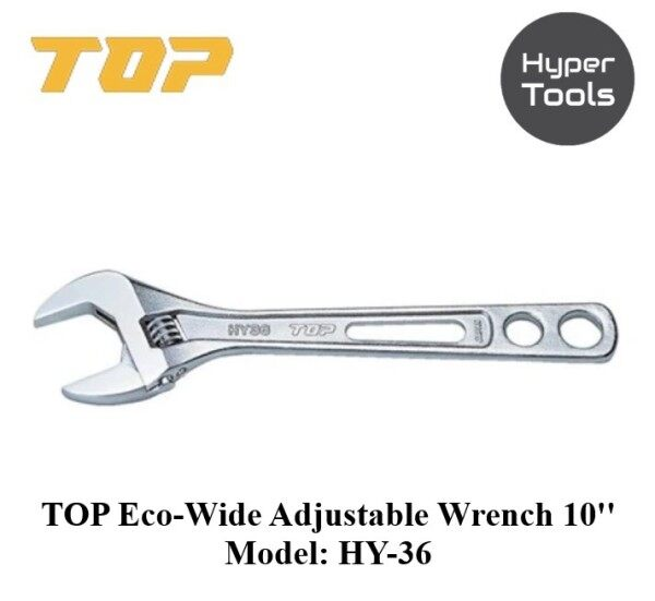 TOP Eco-wide Adjustable Wrench (thin and lightweight wide) 10 & 12 (Model: HY Series)