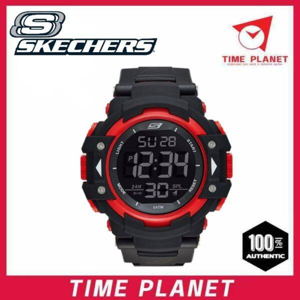 SKECHERS SR1038 MENS LARGE XL SIZE DIGITAL NYLON VELCRO STRAP SPORT WATCH Malaysia