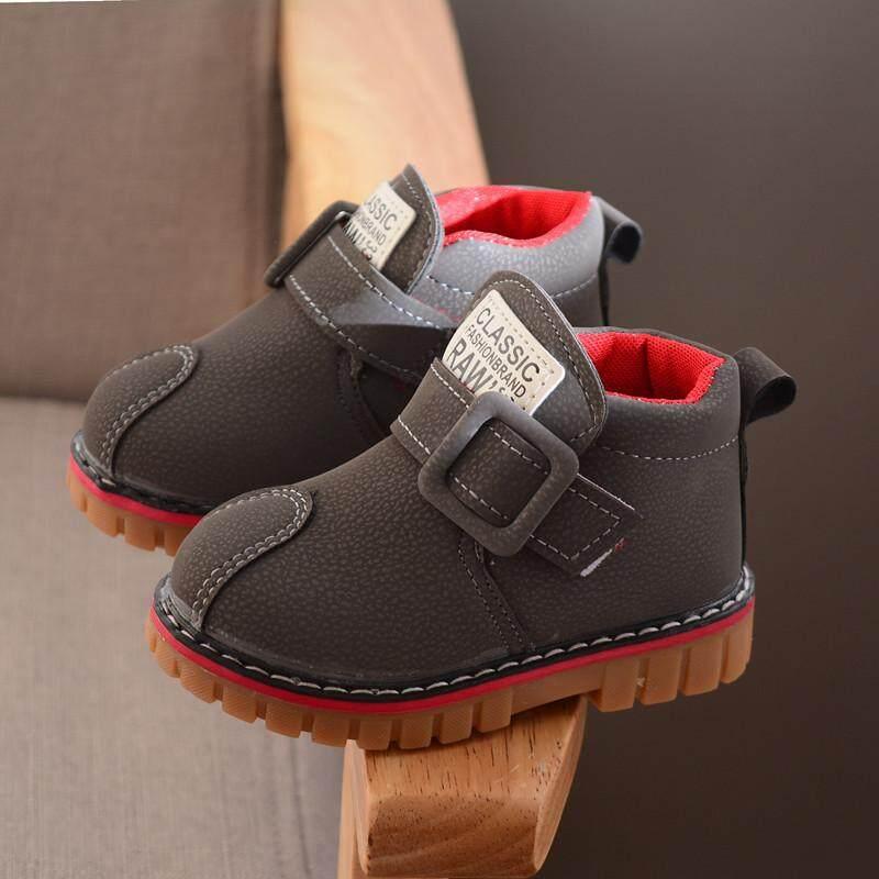 Fashion Anak-anak Sepatu Bot Martin Sepatu Tunggal Pergelangan Kaki Sepatu Anak Sepatu Tahan Air