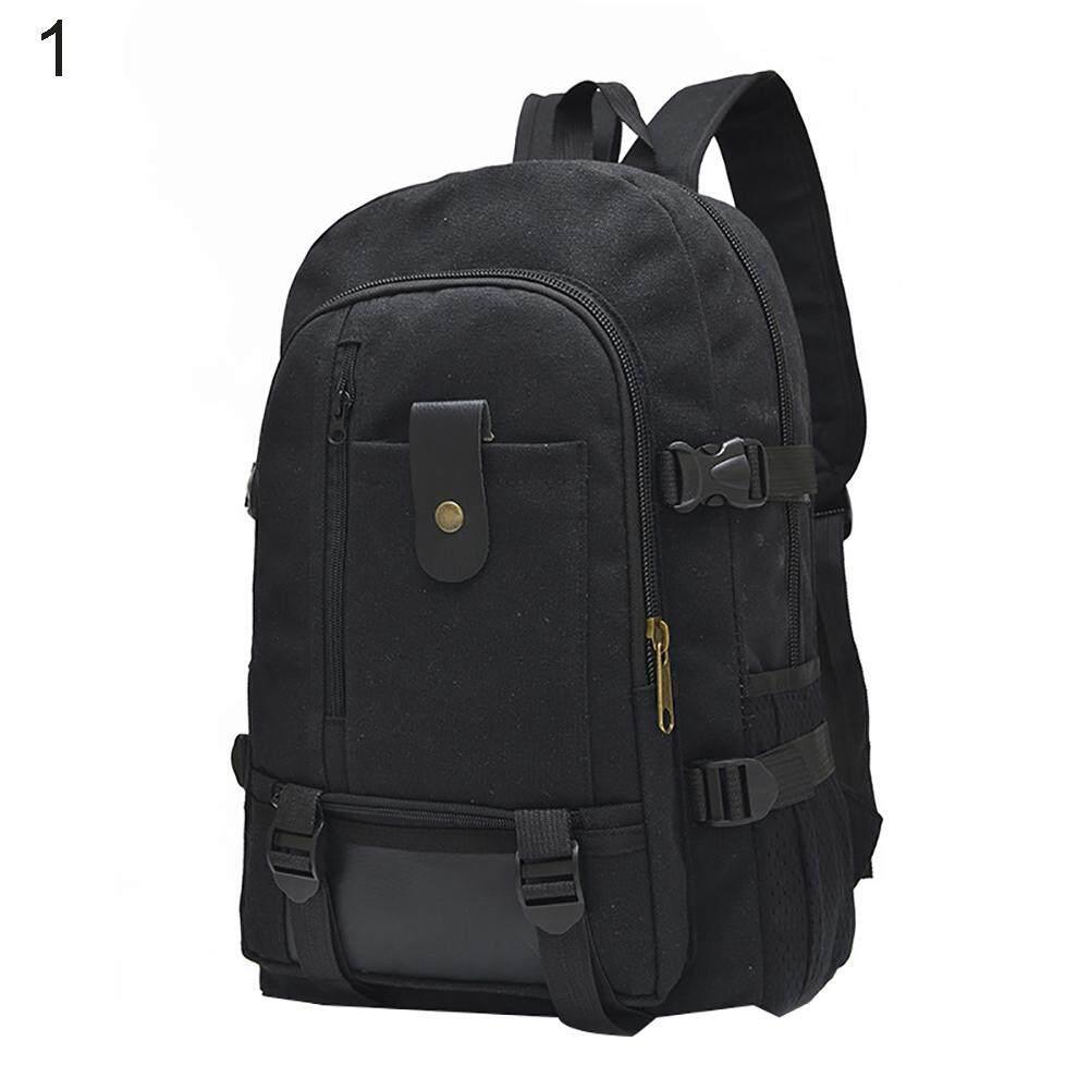 cee554384a60 Fashionhead Men Casual Canvas Backpack School Rucksack Vintage Satchel  Shoulder Laptop Bag
