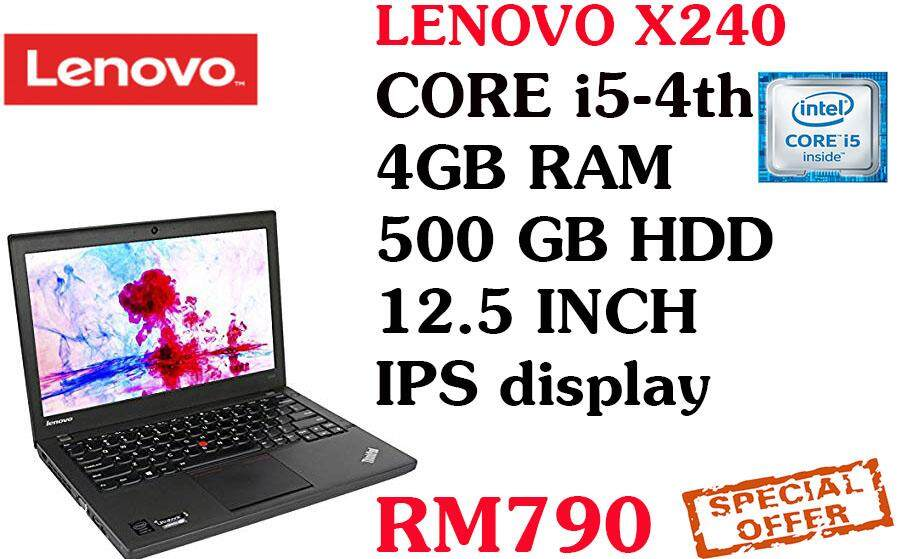 BIG OFFER BIG OFFER Lenovo x240 intel core i5-4th gen 4gb ram 500 gb hdd 12.5 inch Malaysia