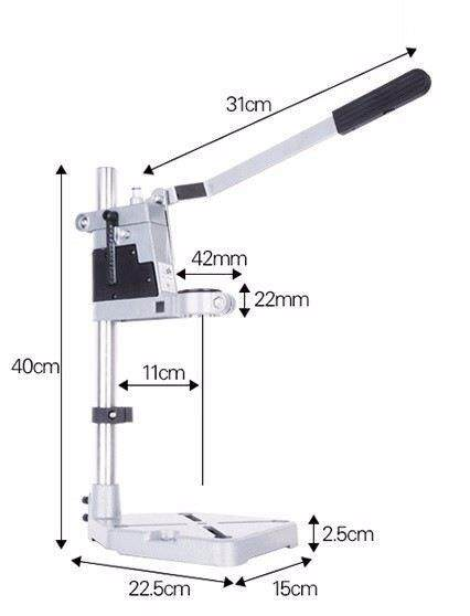 Hand Drill Press Stand 400mm (Aluminium Base) ID009830