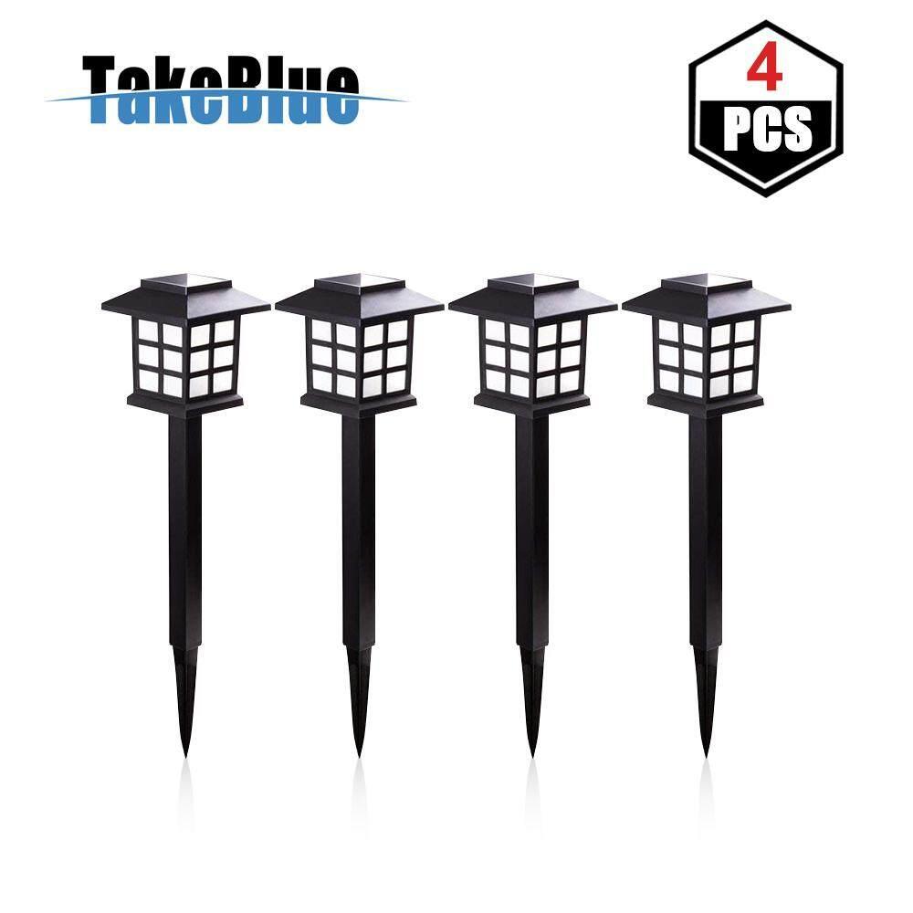 TakeBlue 4 Unit Solar Led Outdoor Garden Light Lantern Lights