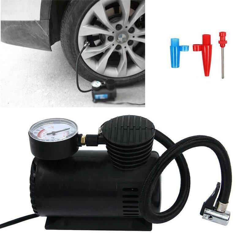 Comforhome 4PCS/SET 16.5*8.5*21.5cm Vehicles Air compressor Balls Sports Tool Needle Nozzle adapter Black 300PSI Pump Tyre Wheel Tools