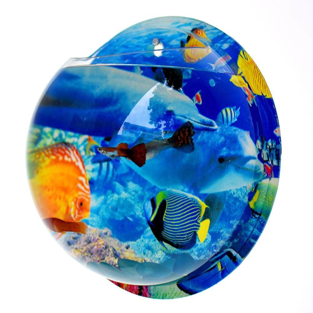 Fish Tank Bowl Wall Mounted Fish Tank Acrylic Vase Aquarium Plant Ornament Flower Pot  Home Decoration
