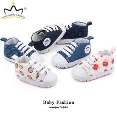 Giày Em Bé Hoạt Hình Dễ Thương Mới Cho Bé Trai Bé Gái Giày Sơ Sinh Đế Chống Trượt Bằng Cotton Mềm, Kem Dâu Tây Cho Trẻ Mới Biết Đi Giày Bé Gái