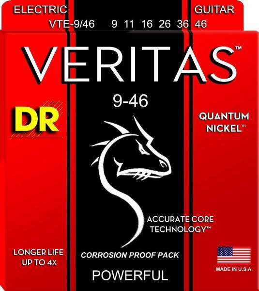 DR Strings VTE-9/46 Veritas Coated Core Technology Electric Guitar Strings, 009-046 Malaysia