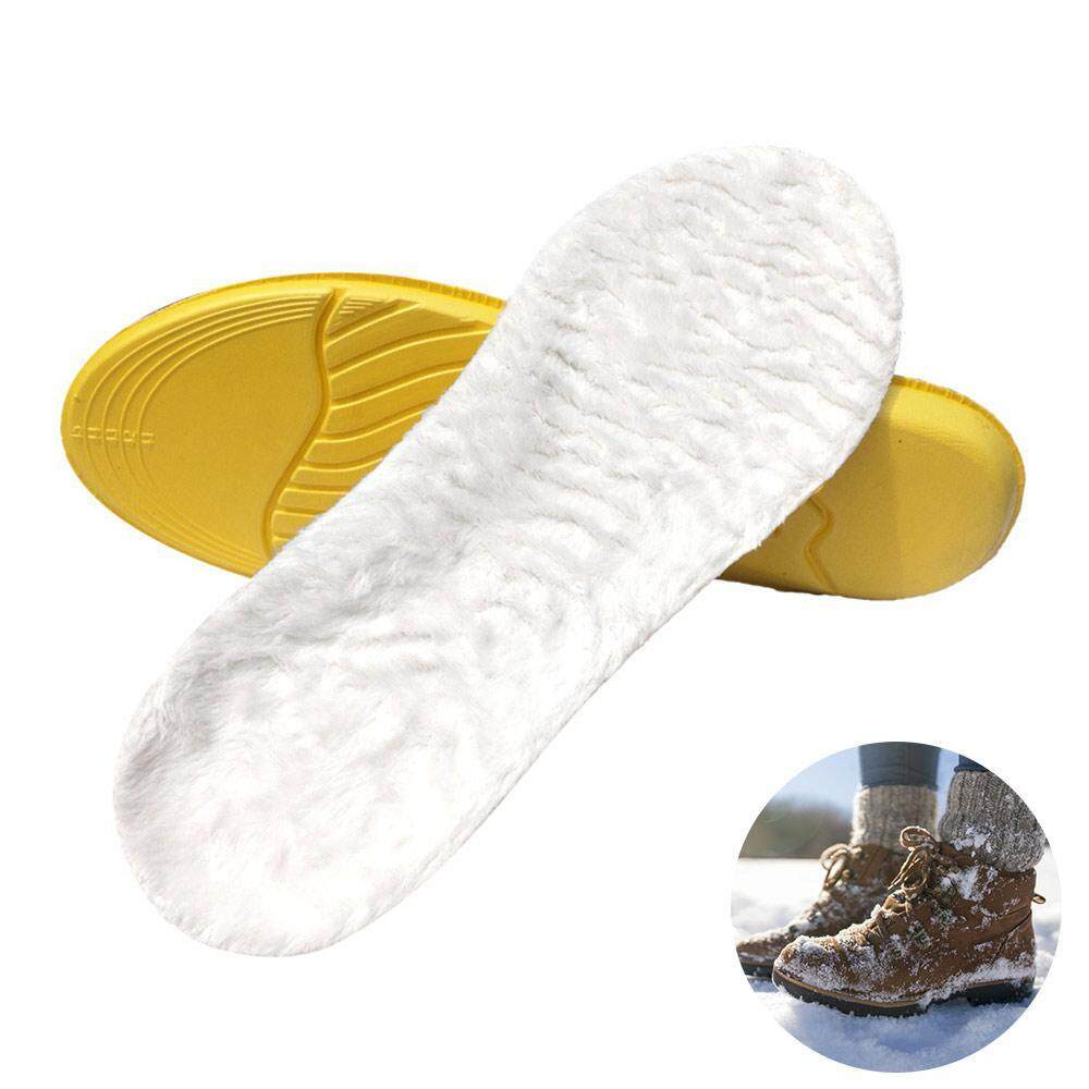 Winter Soft Fur Wool Cashmere Insoles Warm Heel Lift Height Increase Shoes Pad