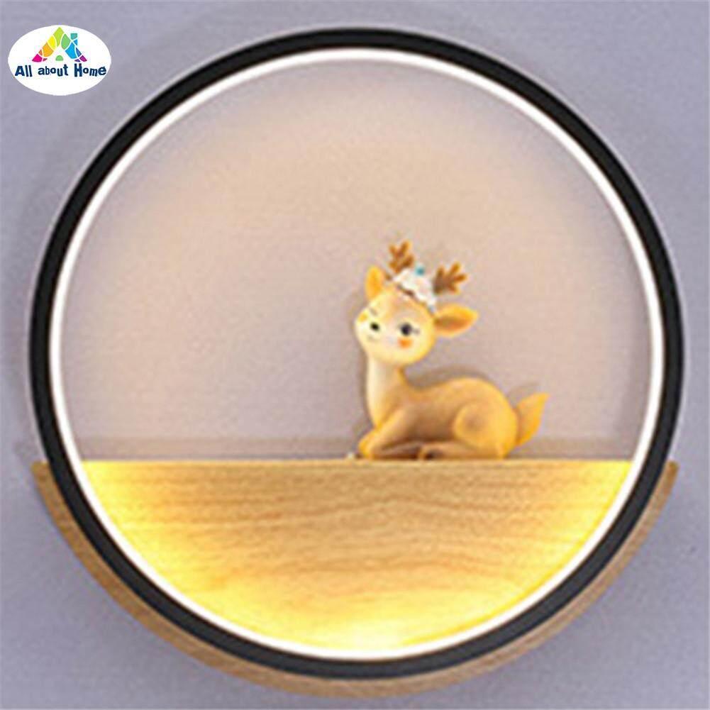 ABH Simple Modern Illumination Wall Light Deers Circle Room Wall Lamp