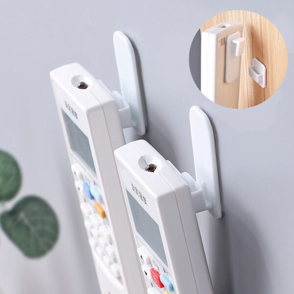 YESPERY 4Pcs/set Plastic Hooks Adhesive Hook Set Air Conditioning TV Handy Remote Controller Heavy Duty Wall Hanger