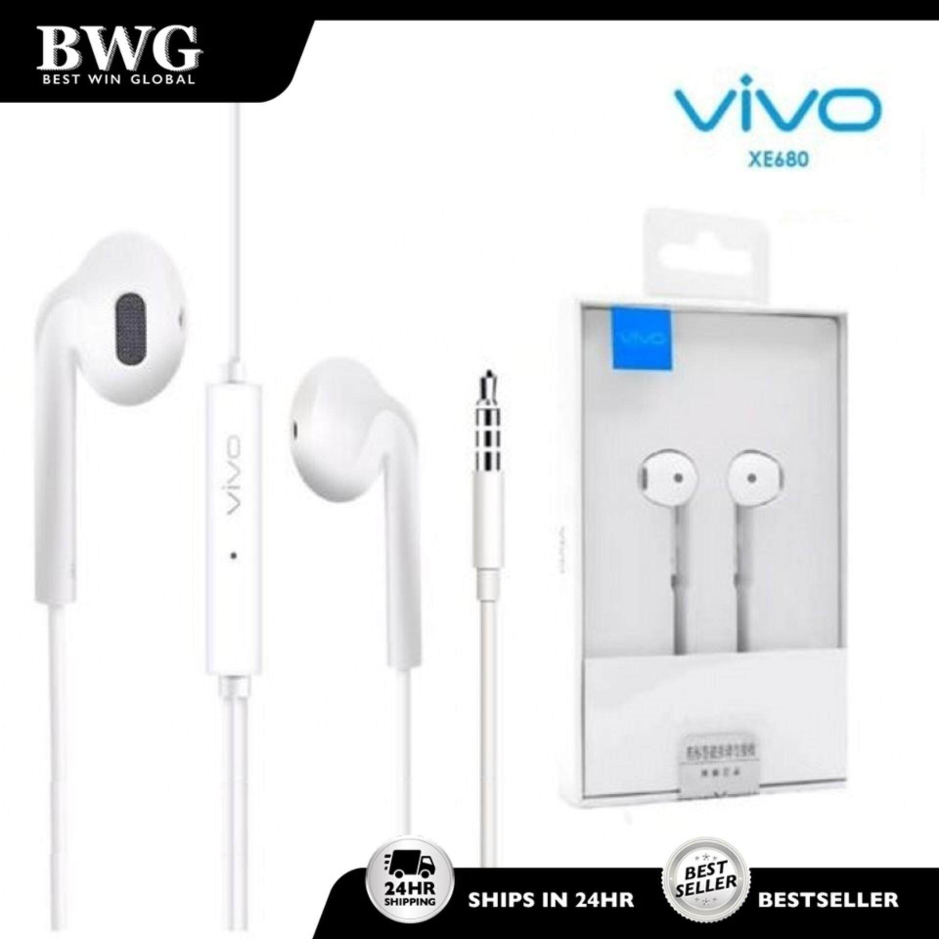 Original Vivo XE680 Ear Buds Wired Earphones With Mic