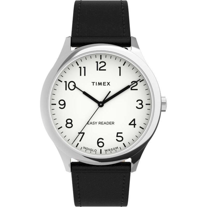 Timex Easy Reader® Gen1 40mm Leather Strap Watch (TW2U22100) Malaysia