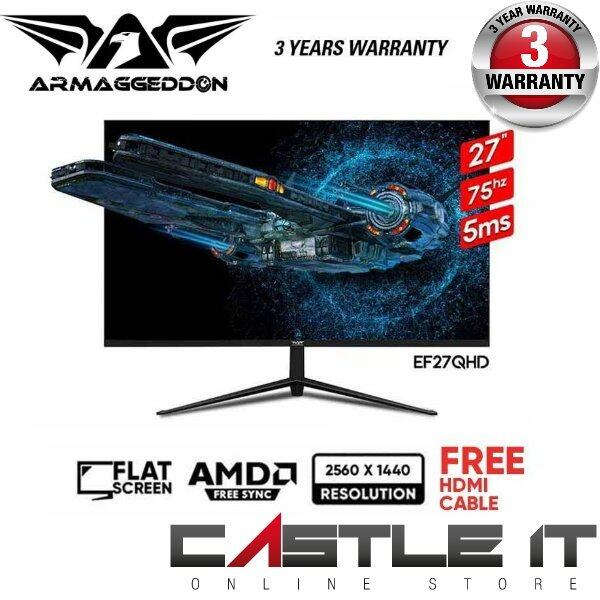 Armaggeddon Pixxel+ Elite EF27QHD Gaming Monitor 2560x1440/75Hz/5ms/Free HDMI Cable Malaysia
