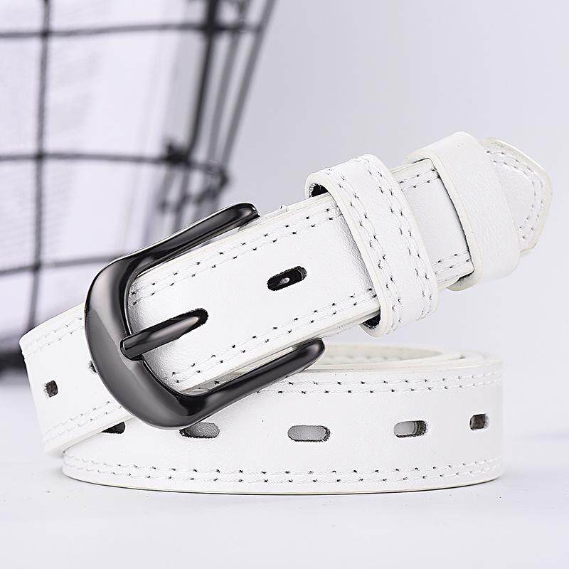 Spring and summer new two-line men's and women's belts New casual wild thin belts