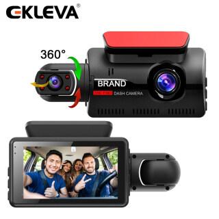 EKLEVA Camera Trước Xe Hơi Mini Máy Quay Video DVR, Màn Hình IPS 3-Inch Camera Hành Trình 2 Trong 1 Ống Kính Kép FHD 1080P Camera Hành Trình Nhìn Đêm Hộp Đen thumbnail