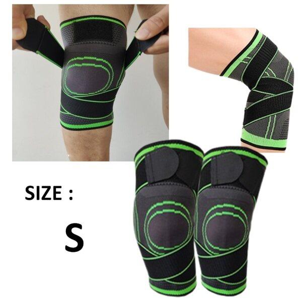 Knitted Sports Knee Pads Non-Slip Nylon Climbing Running 3D Brace for Knee Pain