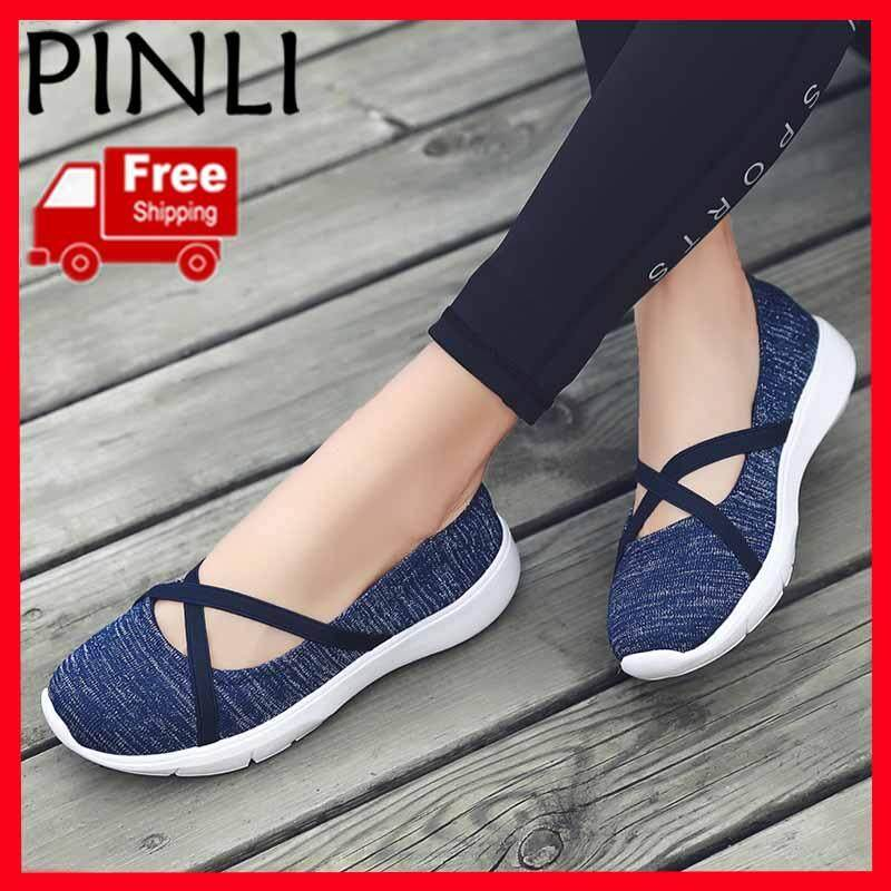ca2cf4738 PINLI  Free Shipping  Fashion Low To Help The Elderly Shoes Middle-aged  People