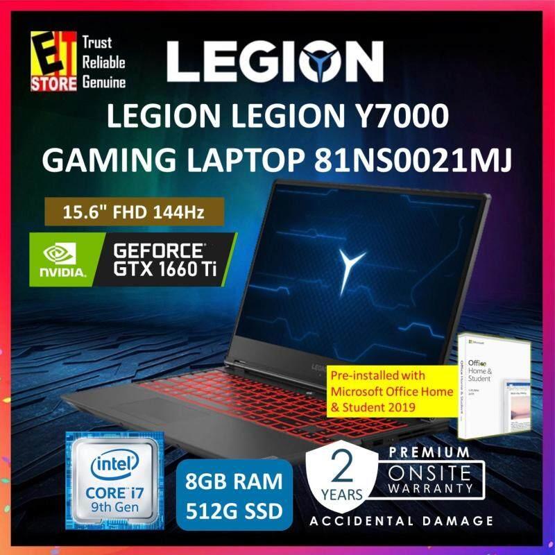 LENOVO LEGION Y7000 GAMING LAPTOP 81NS0021MJ (I7-9750H/8GB /512GB SSD /GTX 1660 TI 6GB/15.6  FHD 144HZ/W10/MS OFFICE HOME & STUDENT/2YRS) Malaysia